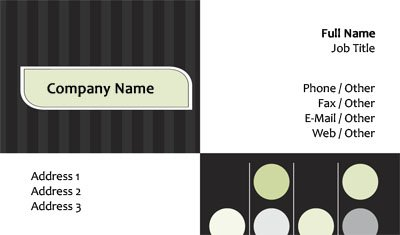 Modern Stripes and Circles Business Card Template